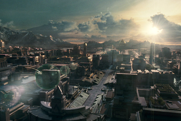 hunger games capitol city aerial view