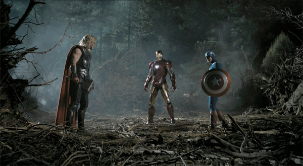 The Avengers Film Screen Shot: Captain America, Thor, Ironman